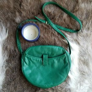 Vintage | Anton Green Faux Leather Crossbody Purse